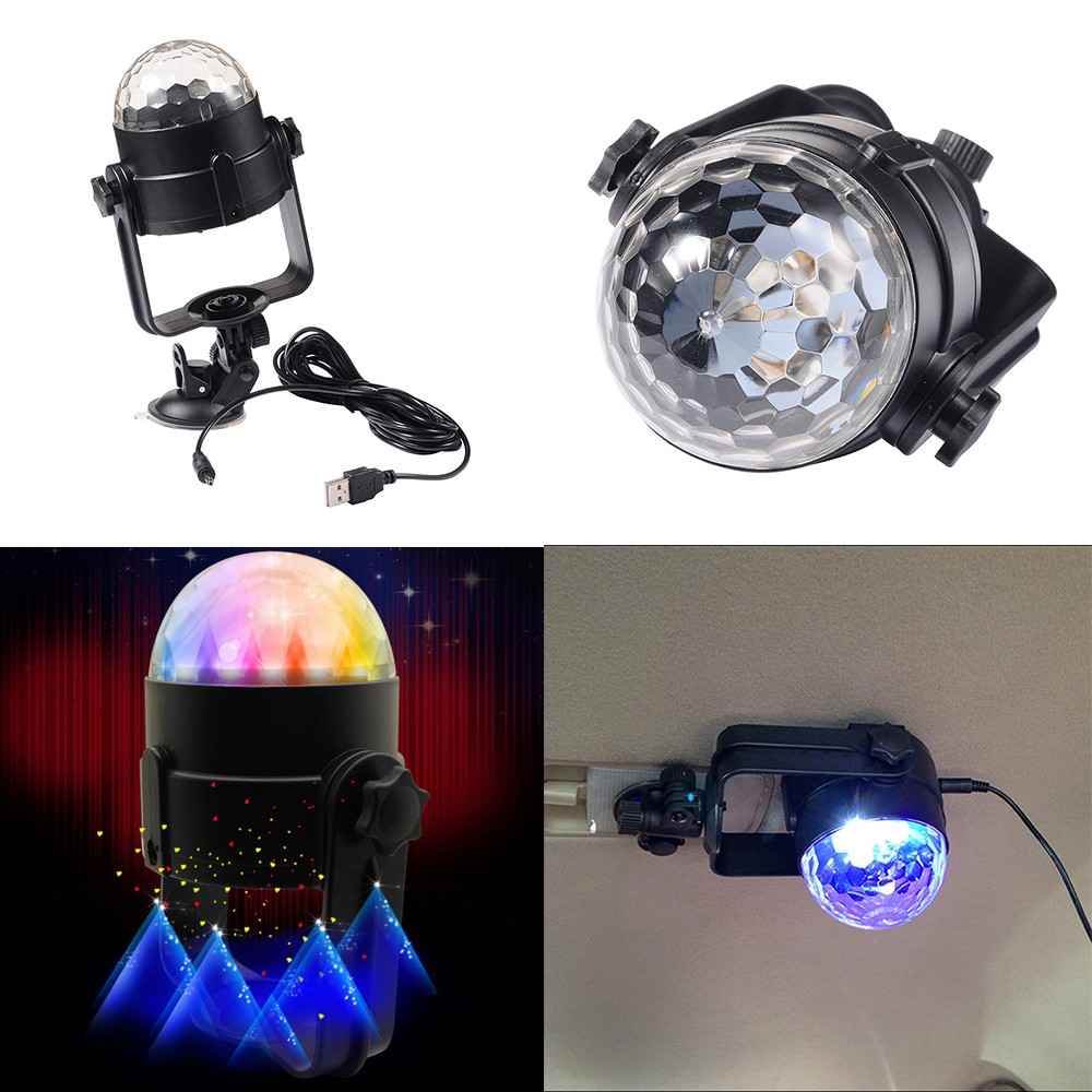 Car Light Decoration Car Disco Dj Stage Lighting Led Rgb Crystal Ball Lamp Bulb Effect