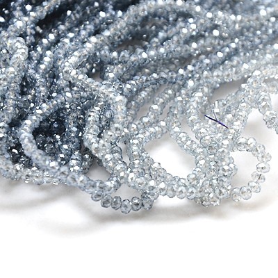 1 Strand 2.5x2mm Electroplate Plated Faceted Abacus Glass Beads 200pcs/strand