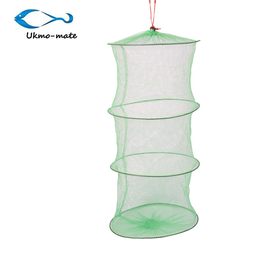 Green crab shrimp minnow crawdad lobster foldable bait for Fishing pole crab trap