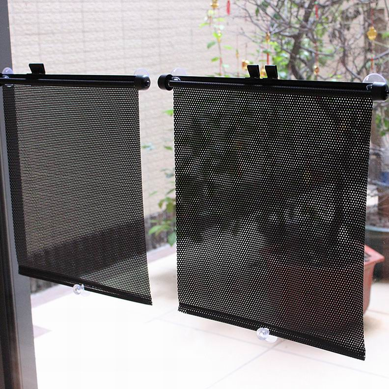 car sunshade side rear window curtain retractable curtains sunshade roller blind ebay. Black Bedroom Furniture Sets. Home Design Ideas