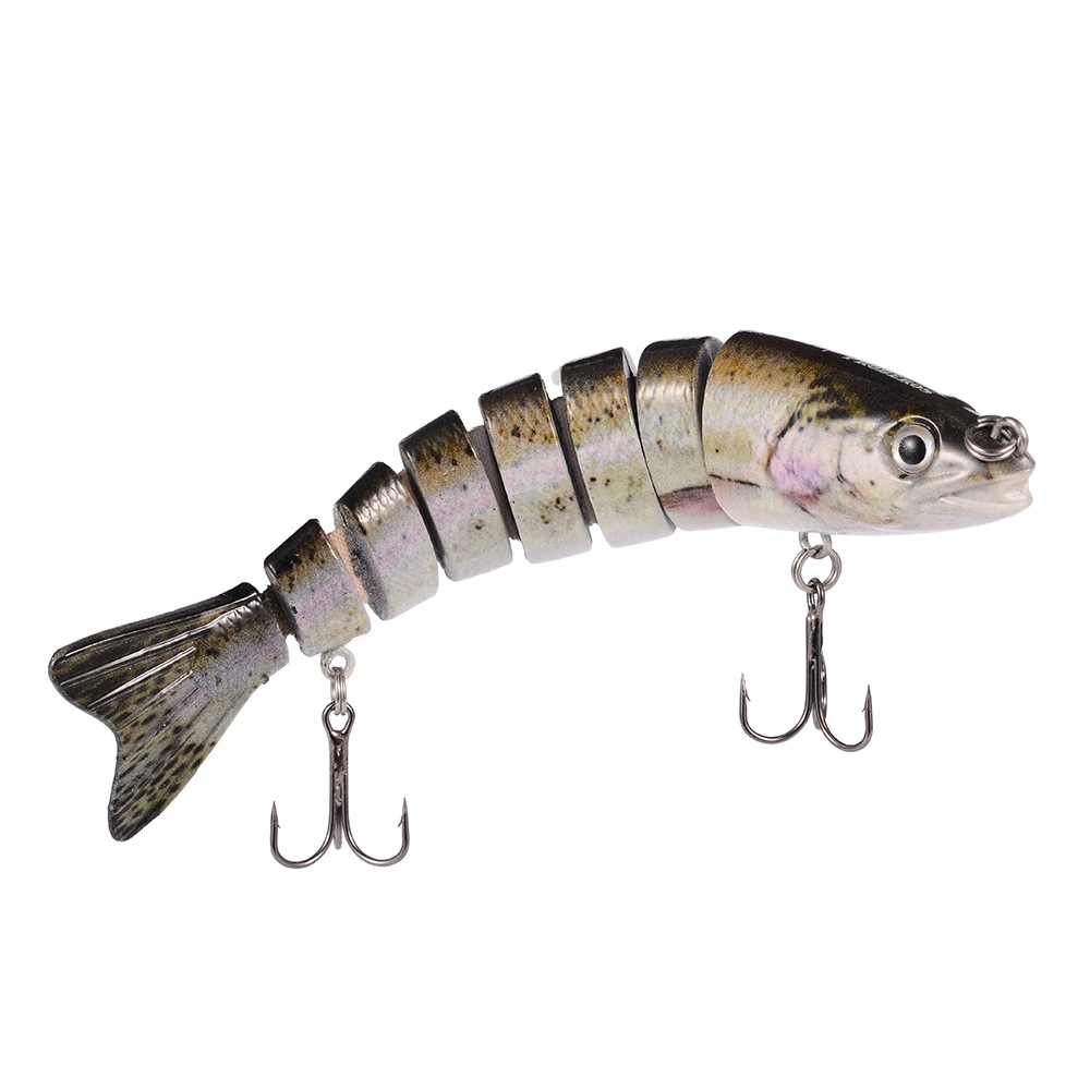 Multi section fishing lure crank bait swimbait bass shad for Amazon fishing lures