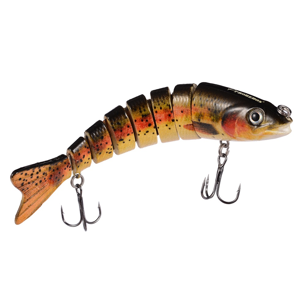 Multi section fishing lure crank bait swimbait bass shad for Bass fishing lures