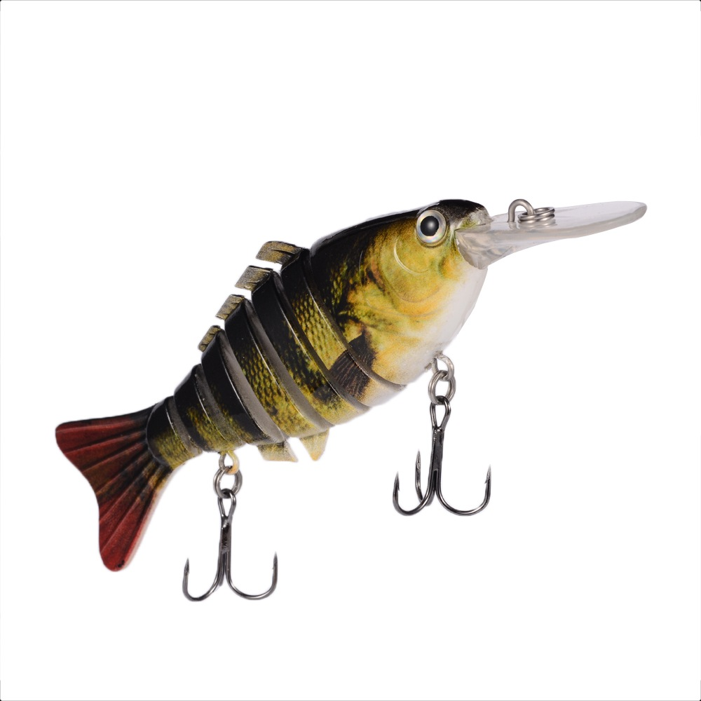 4 7 swimbait bass pike fishing jerk bait lure sinking for Bass fishing lures