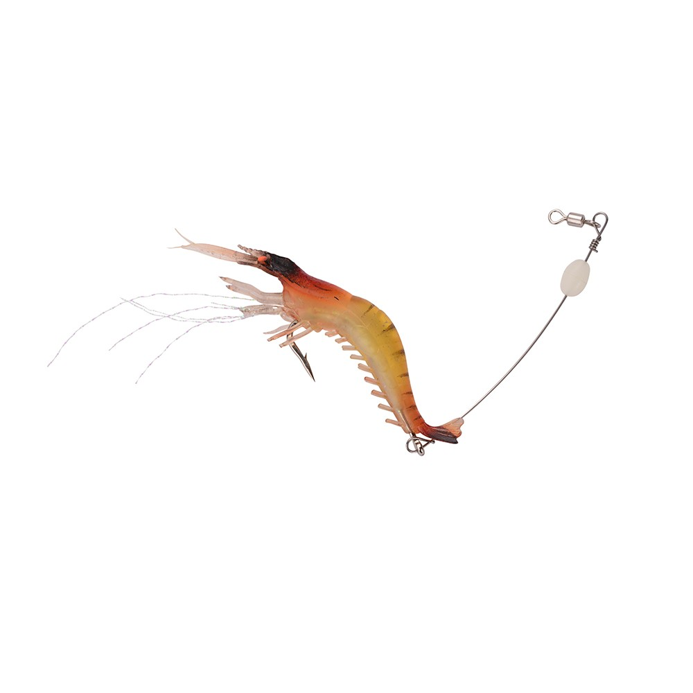 1x shrimp prawn lure bass coarse sea river fishing cod for Salmon fishing lures