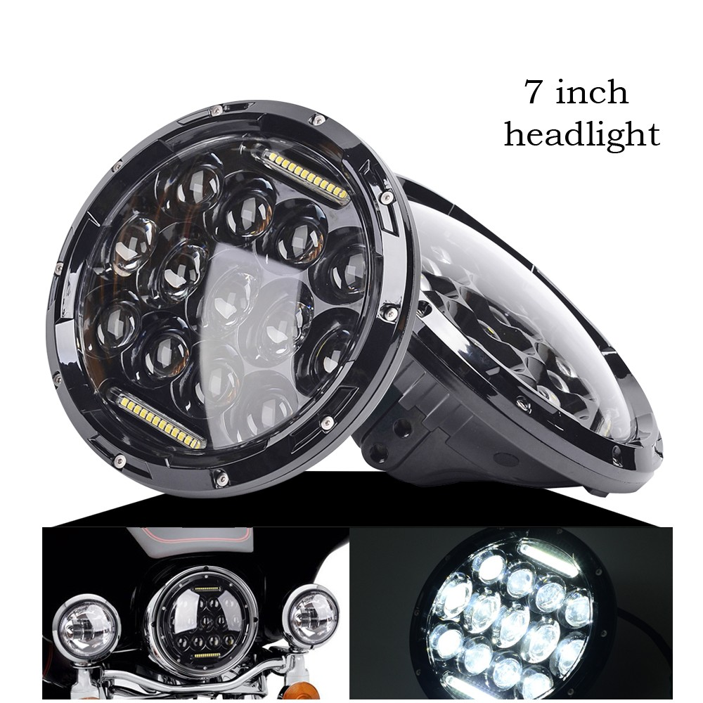 """1x Round 7"""" 75W LED Headlight Projector Daymaker HID LED ..."""