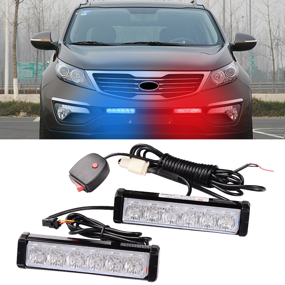 1 kit led car truck red blue warning emergency beacon strobe flash light bar ebay. Black Bedroom Furniture Sets. Home Design Ideas