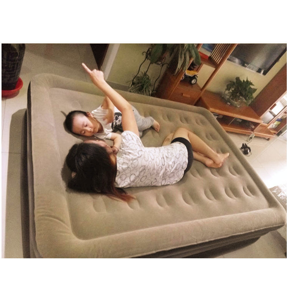 Inflatable Sofa Air Bed Lounger: Outdoor Bedroom Lounger Airbed Inflatable Flocking Sofa