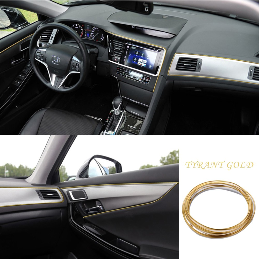 5m diy car styling moulding strip flexible trim for car interior exterior decor ebay for How to decorate your car interior