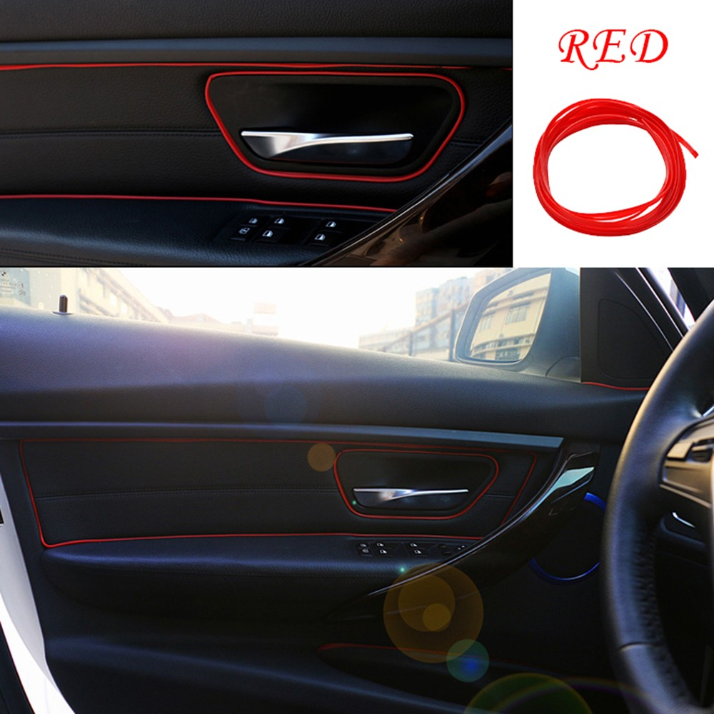 diy 5m flexible trim car interior exterior decor moulding strip decorative line ebay. Black Bedroom Furniture Sets. Home Design Ideas