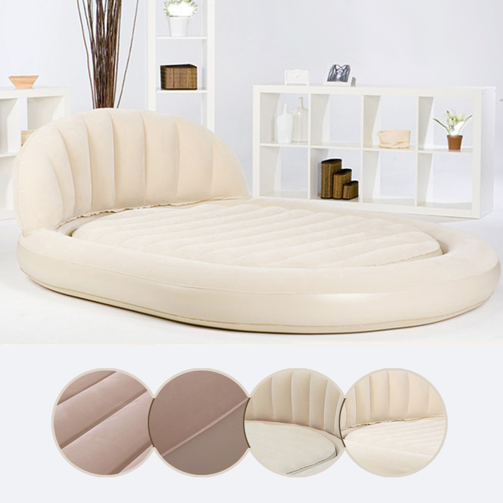 Daybed sofa couch - Beige Daybed Portable Blow Up Inflatable Air Lounge Cushion Sofa Seat Us Seller
