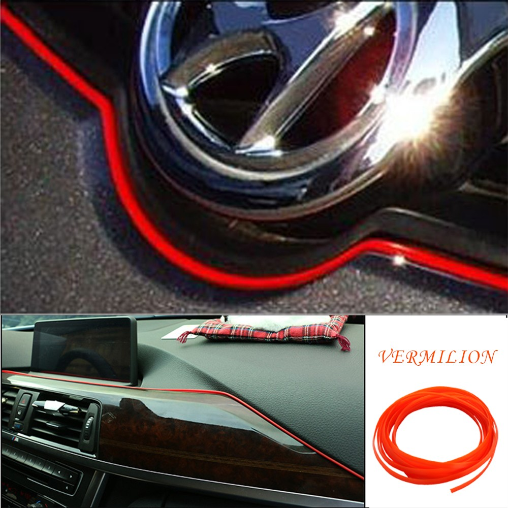 1pcs Car Styling Interior External Decorative Trim Strip Decor ...