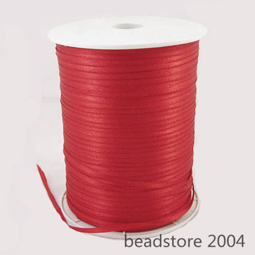 """880yards of 3mm (1/8"""") Double Faced Sided Satin Ribbon Reel Christmas Gift Craft"""