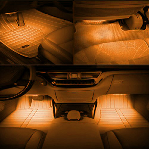 4x 5050 car led strip interior underdash underseat floor. Black Bedroom Furniture Sets. Home Design Ideas