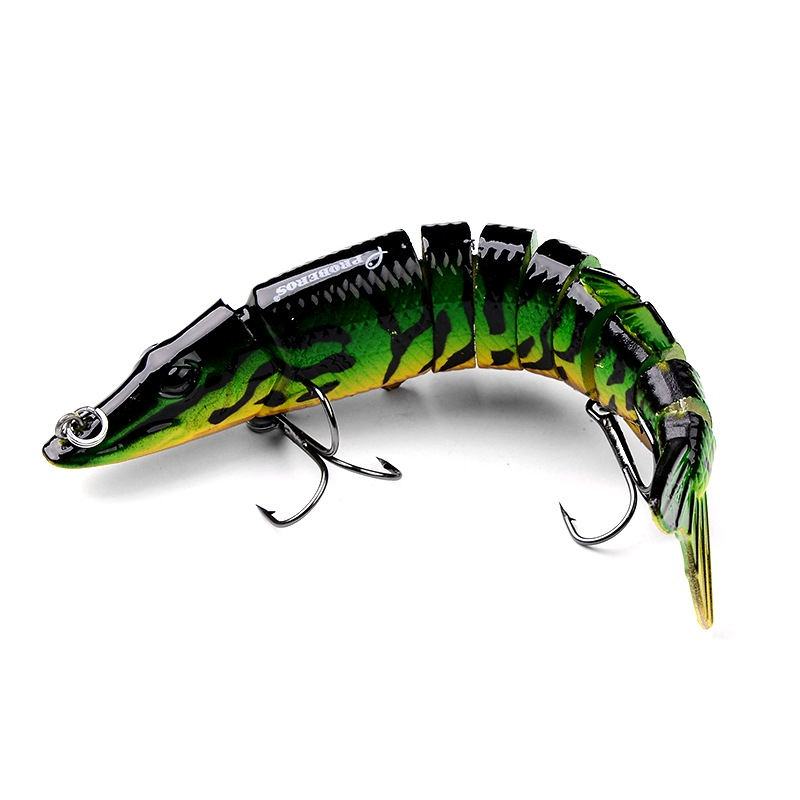 Pike fishing bait lure jerkbait swimbait multi jointed for Amazon fishing lures