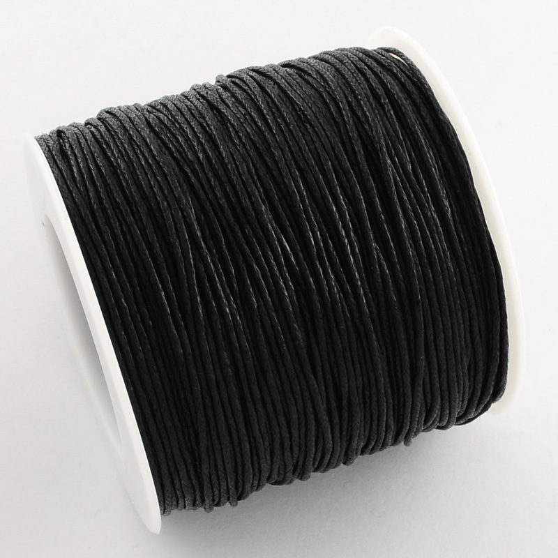 84m/roll Waxed Cotton Thread Cords 1mm for Bracelets ...