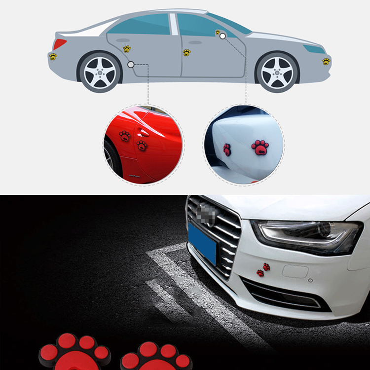 3d bear paw print dog footprint car window door bumper sticker past decal decor ebay. Black Bedroom Furniture Sets. Home Design Ideas
