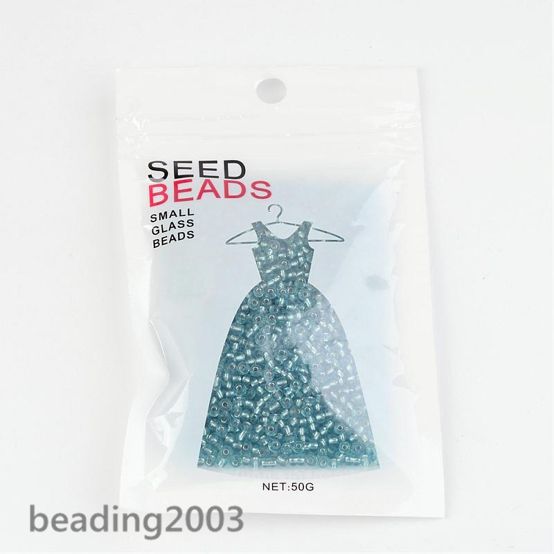 50g-3mm-8-0-Round-Glass-Silver-Lined-Seed-Beads-19-Colors-Jewellery-Craft-Making thumbnail 17