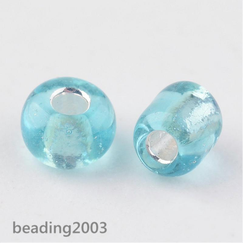 50g-3mm-8-0-Round-Glass-Silver-Lined-Seed-Beads-19-Colors-Jewellery-Craft-Making thumbnail 16