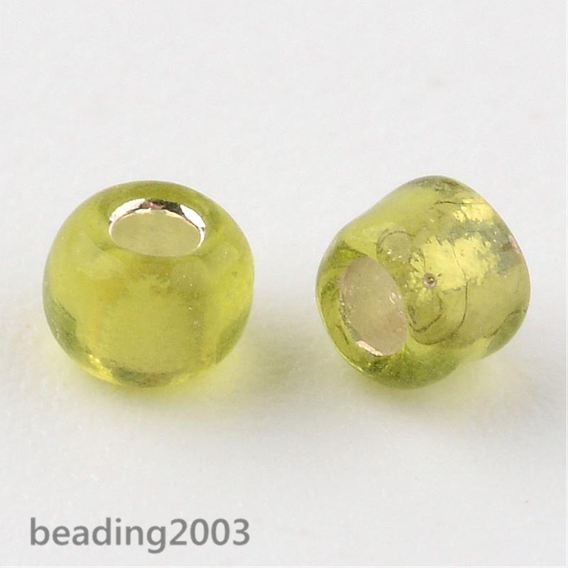 50g-3mm-8-0-Round-Glass-Silver-Lined-Seed-Beads-19-Colors-Jewellery-Craft-Making thumbnail 13