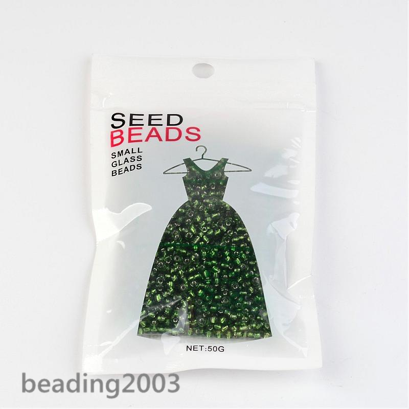 50g-3mm-8-0-Round-Glass-Silver-Lined-Seed-Beads-19-Colors-Jewellery-Craft-Making thumbnail 8