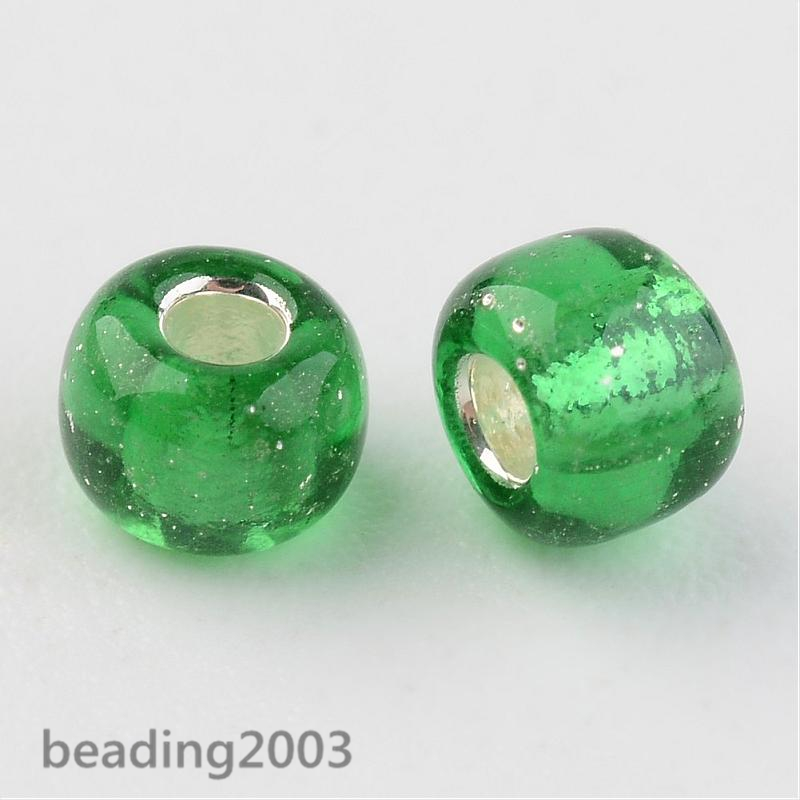 50g-3mm-8-0-Round-Glass-Silver-Lined-Seed-Beads-19-Colors-Jewellery-Craft-Making thumbnail 4