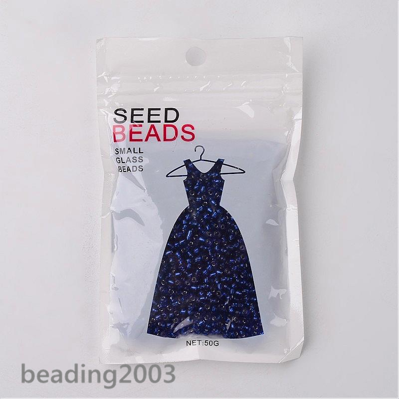 50g-3mm-8-0-Round-Glass-Silver-Lined-Seed-Beads-19-Colors-Jewellery-Craft-Making thumbnail 41