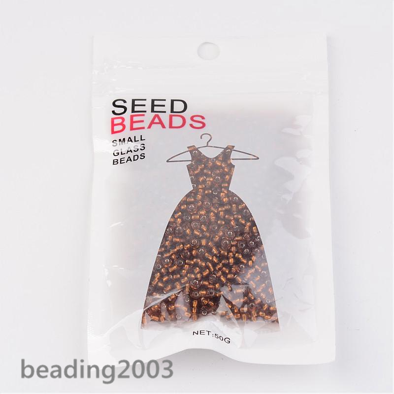 50g-3mm-8-0-Round-Glass-Silver-Lined-Seed-Beads-19-Colors-Jewellery-Craft-Making thumbnail 32