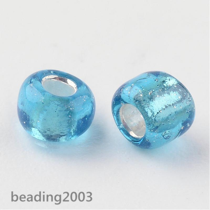 50g-3mm-8-0-Round-Glass-Silver-Lined-Seed-Beads-19-Colors-Jewellery-Craft-Making thumbnail 25