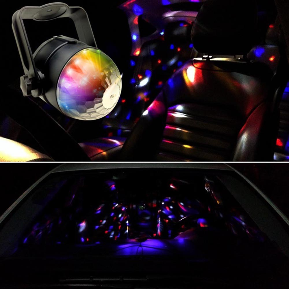 1x auto car disco dj stage lighting led rgb crystal ball lamp bulb light party ebay. Black Bedroom Furniture Sets. Home Design Ideas