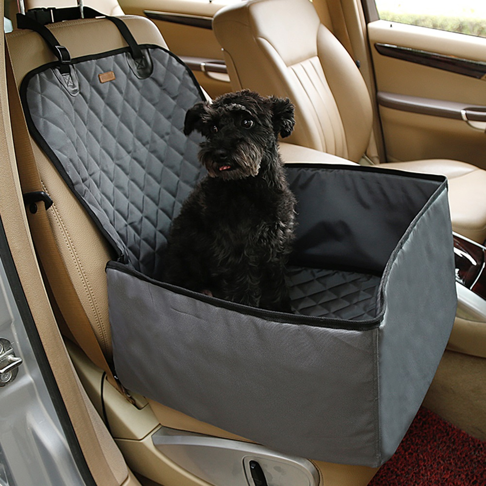 hammock dogs grey car dog products wag back seat