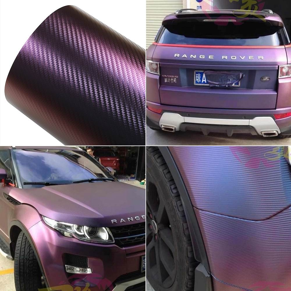 300mm152M Chameleon Carbon Fiber Vinyl Film Wrap Car Sticker Body Films